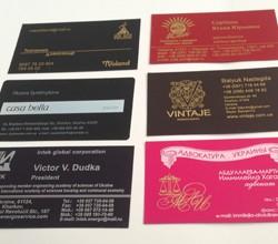 Печать на визитках в Киеве