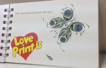 """1563  Woodstock Betulla 285g, бежевый картон с легкими """"вкраплениями"""""""