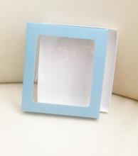 упаковка крышка +дно с прозрачным пластиковым окошком