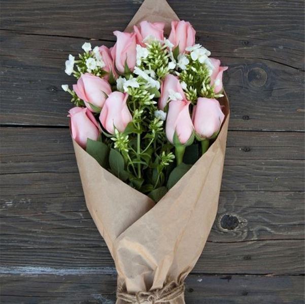 Упаковочная бумага крафт для цветов-2