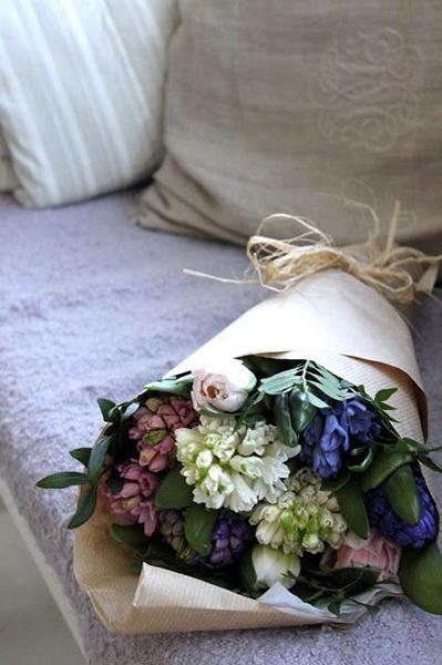 Упаковочная бумага крафт для цветов-3