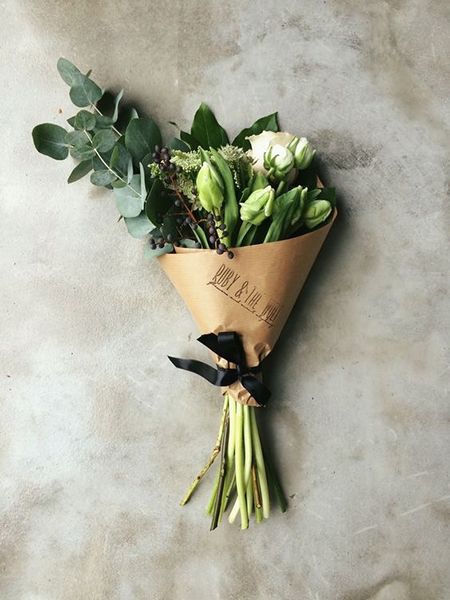 Упаковочная бумага крафт для цветов-4