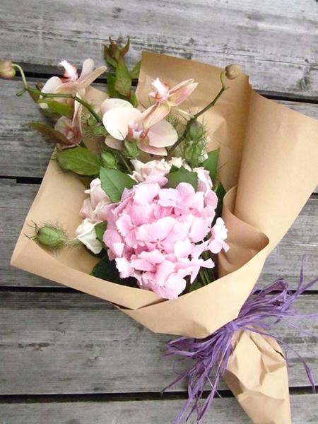 Упаковочная бумага крафт для цветов-5