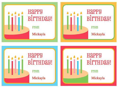 Етикетки з днем народження