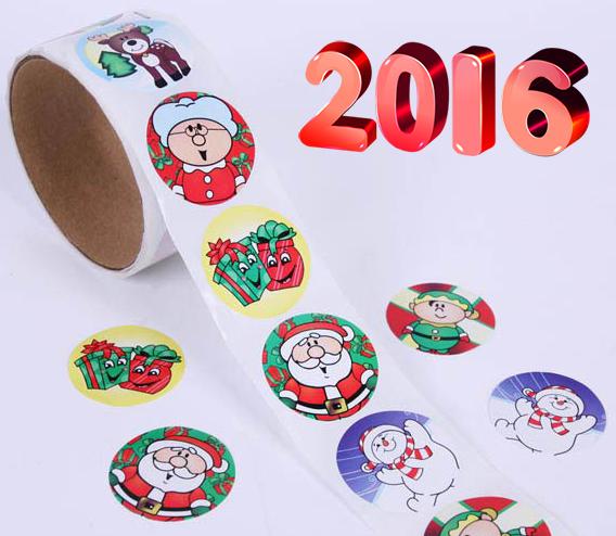 Новогодние наклейки