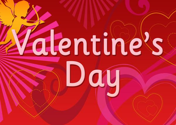 Плакат на день Валентина