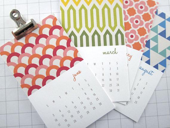 Види друкованих календарів