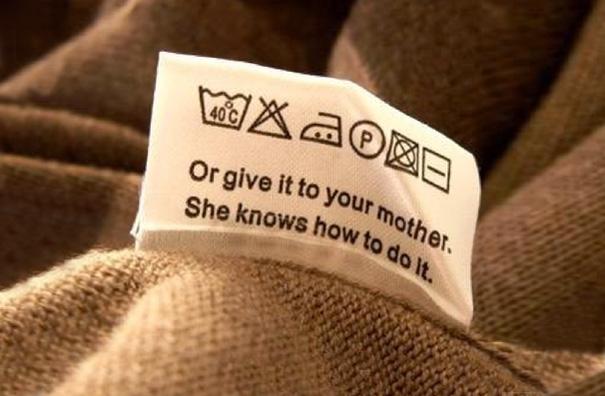 Позначення на бирках одягу