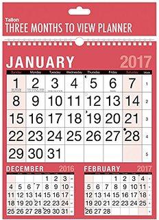 Квартальный календарь на 2017 год