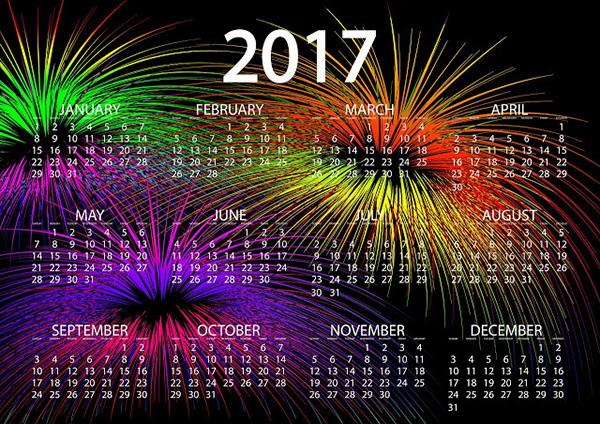 Новогодний календарь на 2017 год