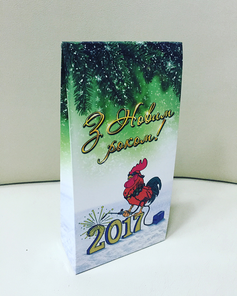 Картонна упаковка для новорічних подарунків